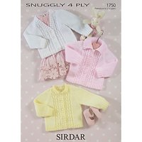 Sirdar Snuggly Baby Cardigans Knitting Pattern, 1750