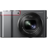Panasonic Lumix DMC-TZ100EB Digital Camera, 4K Ultra HD, 20.1MP, 10x Optical Zoom, Wi-Fi, EVF, 3 LCD Touch Screen