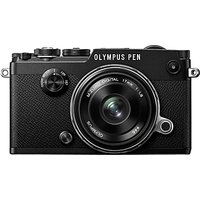 Olympus Pen F Compact System Camera With M.ZUIKO 17mm Prime Lens, HD 1080p, 20.3MP, Wi-Fi, Front Creative Dial, 5-Axis IS, 3 Vari-Angle Touch Monitor, Silver