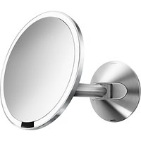 simplehuman Wall Mounted Bathroom Sensor Mirror, Mains Operated