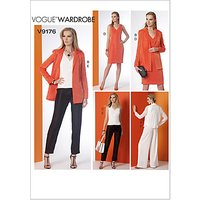 Vogue Womens Dress and Jacket Sewing Pattern, 9176