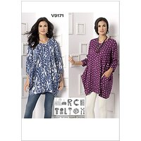 Vogue Womens Tunic Tops Sewing Pattern, 9171