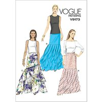 Vogue Womens Skirts Sewing Pattern, 9173