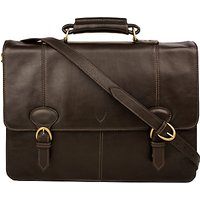 Hidesign Parker 03 Leather Briefcase, Brown