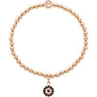 Melissa Odabash Glass Crystal Evil Eye Bracelet