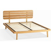 House by John Lewis Bow Slatted Headboard Bed Frame, Double