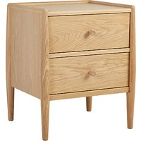 ercol for John Lewis Shalstone 2 Drawer Bedside Table