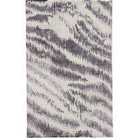 west elm Diffused Zebra Printed Rug, Platinum