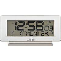 Acctim Novara Radio Controlled Alarm Clock, White
