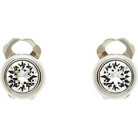 Finesse Swarovski Crystal Clip-On Earrings, Silver