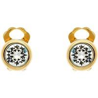 Finesse Swarovski Crystal Stud Earrings, Gold