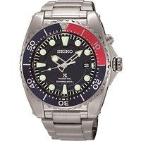 Seiko SKA369P1 Men's Prospex Date Bracelet Strap Watch, Silver/Black