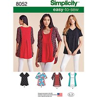 Simplicity Womens Tops Sewing Pattern, 8052