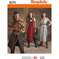 Simplicity Womens Warrior Costume Sewing Pattern, 8074
