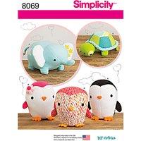 Simplicity Craft Stuffed Animals Sewing Pattern, 8069, OS