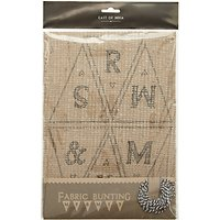 East of India Mr and Mrs Fabric Bunting Kit, Brown