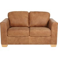 John Lewis Cooper Small 2 Seater Leather Sofa, Light Leg