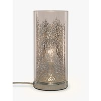 John Lewis Blakeley Clear Glass & Metal Touch Table Lamp, Clear
