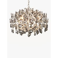 John Lewis & Partners Paris Smoke & Clear Crystal Ceiling Light