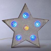 John Lewis Rustic Galvanised Metal LED Star Lamp, Multi