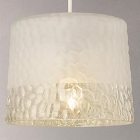 John Lewis Petra Easy-to-Fit Frosted Pebble Glass Ceiling Light