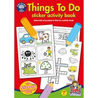 Things To Do Sticker Activity Book