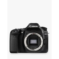 Canon EOS 80D Digital SLR Camera, HD 1080p, 24.2MP, Wi-Fi, NFC With 3 Vari-Angle Touchscreen, Body Only
