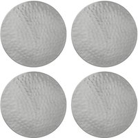 John Lewis Fusion Hammered Metal Coaster, Set of 4