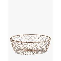 John Lewis Coastal Cote De Provence Copper Fishermans Fruit Basket