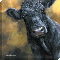 Dina Perejogina - Aberdeen Angus Calf Canvas Print, 80 x 80cm