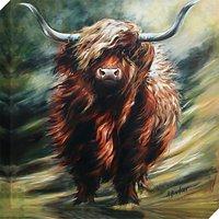 Hilary Barker - Seriously Bad Hair Day Canvas Print, 60 x 60cm