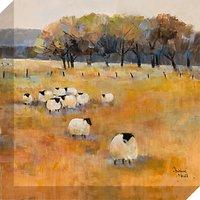 Debbie Neill - Sheep Gathering Detail II Canvas Print, 40 x 40cm