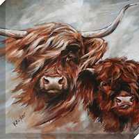 Hilary Barker - Morag and Son Canvas Print, 60 x 60cm