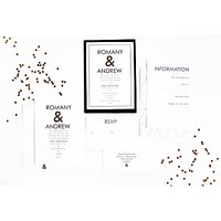 Abigail Warner Ampersand Personalised Evening Invitations, Pack Of 40