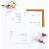 Abigail Warner Champagne Bubbles Personalised Day Invitations