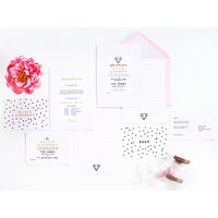 Abigail Warner Diamond Personalised Evening Invitations