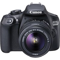 Canon EOS 1300D Digital SLR Camera With 18-55mm IS II Lens, HD 1080p, 18MP, Wi-Fi, NFC, 3 LCD Screen