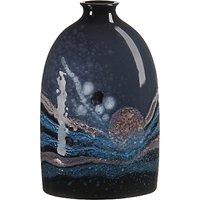 Poole Pottery Celestial Medium Oval Bottle Vase, H23cm, Grey/ Blue