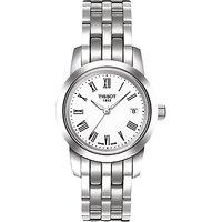 Tissot T0332101101300 Womens Classic Dream Date Bracelet Strap Watch, Silver/White