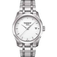 Tissot T0352101101100 Womens Couturier Date Bracelet Strap Watch, Silver/White