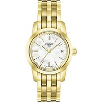 Tissot T0332103311100 Womens Classic Dream Date Bracelet Strap Watch, Gold/White