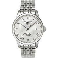 Tissot T41148333 Men's Le Locle Date Bracelet Strap Watch, Silver