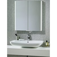 John Lewis LED Trace Double Illuminated Bathroom Cabinet