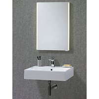 John Lewis & Partners LED Trace Single Mirrored Illuminated Bathroom Cabinet