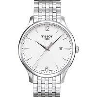 Tissot T0636101103700 Men's Tradition Date Bracelet Strap Watch, Silver/White