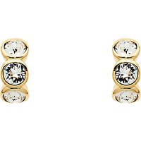 Cachet 3 Swarovksi Crystal Mini Hoop Earrings, Gold