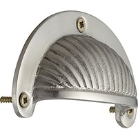 John Lewis Deco Cup Drawer Pull, Satin Nickel