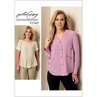 Vogue Womens Tops Sewing Pattern, 1503