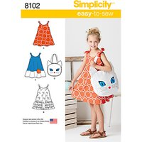 Simplicity Childs Dress and Cat Bag Sewing Pattern, 8102