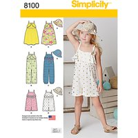 Simplicity Childs Playsuit and Jumpsuit Sewing Pattern, 8100, A